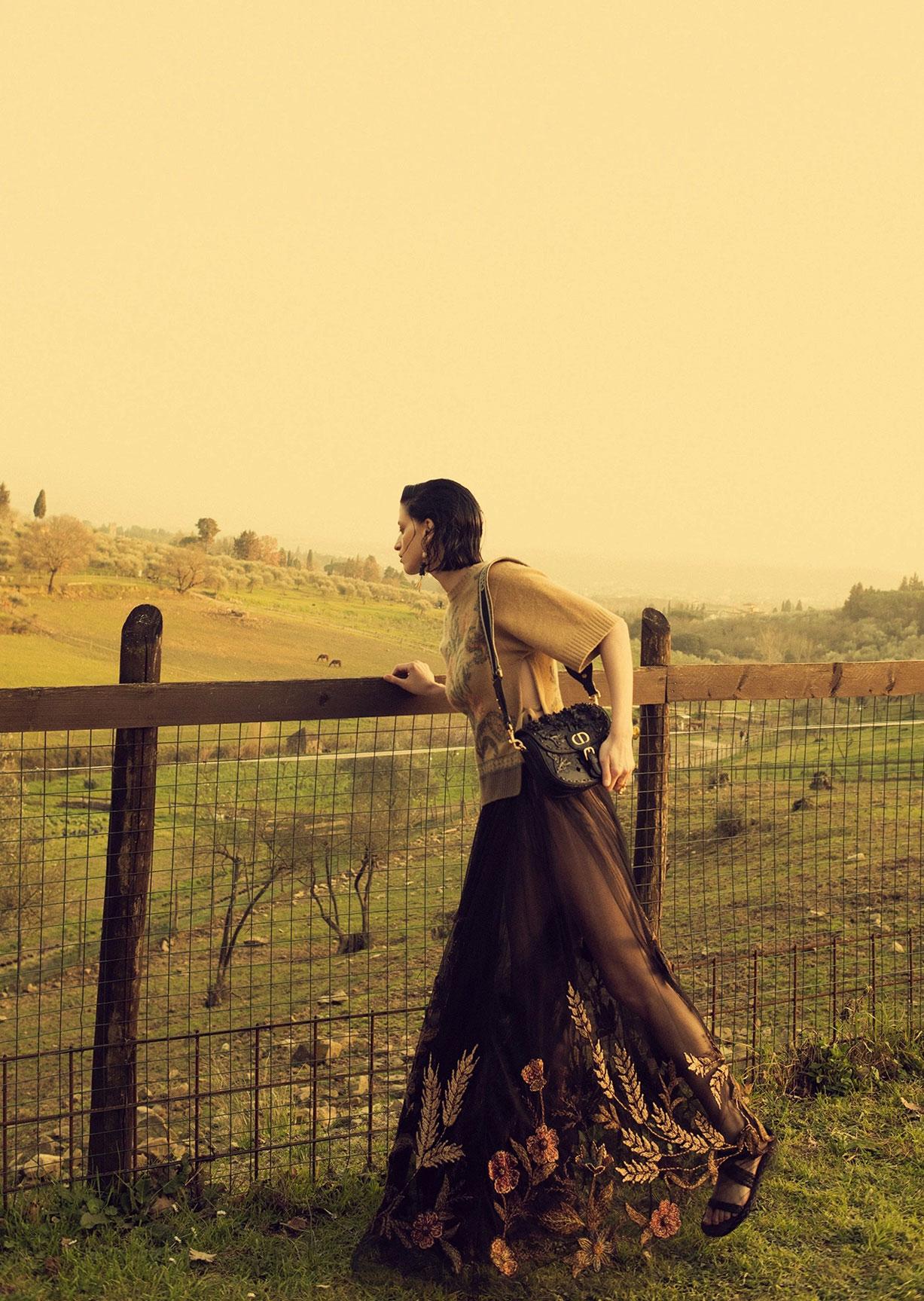 Алина Михеева и модная коллекция Dior на ферме под Флоренцией / фото 07
