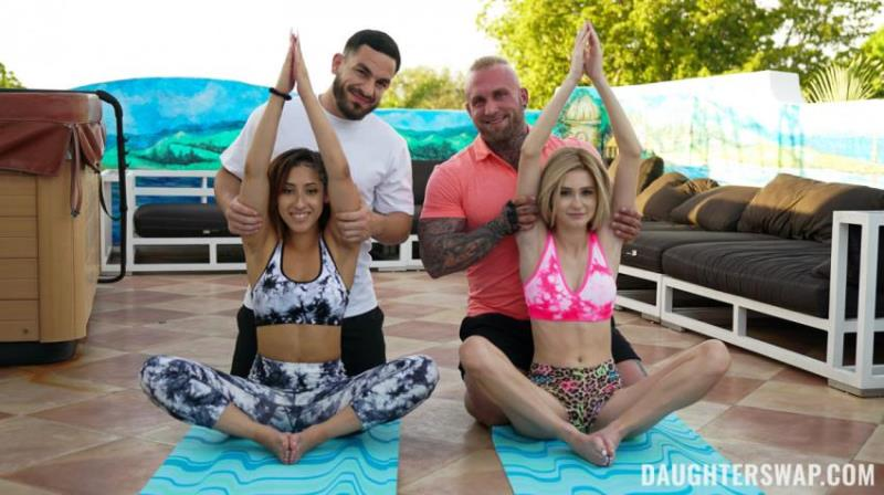 Kira Perez,, Alicia Williams - Yoga Stepdaddy Swap [DaughterSwap.com/TeamSkeet.com] FullHD 1080p