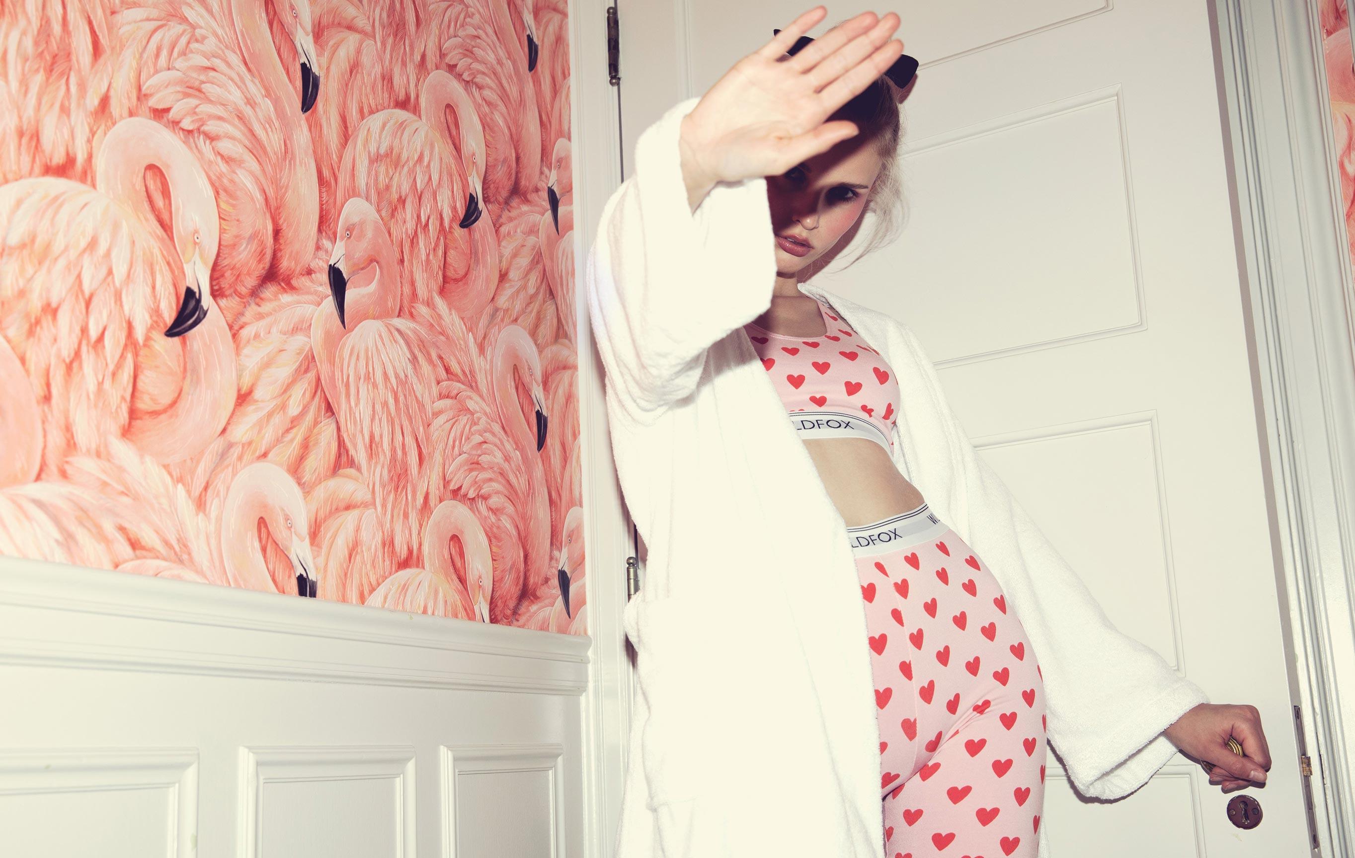Арина Лаш в одежде модного бренда Wildfox, коллекция для отпуска / фото 01