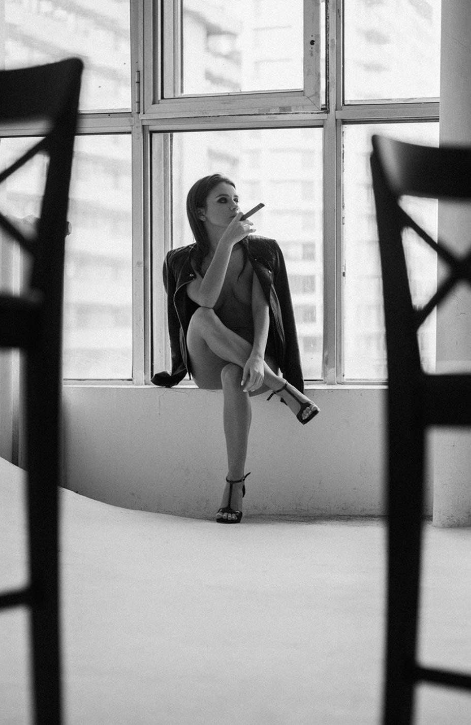 Кристина Макарова экспериментирует со стремянкой / фото 10