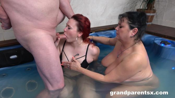 GrandParentsX.com/passionxxx.com: Miranda Steel, Nina K - Having fun in public jacuzzi [FullHD 1080p] (2.82 Gb)