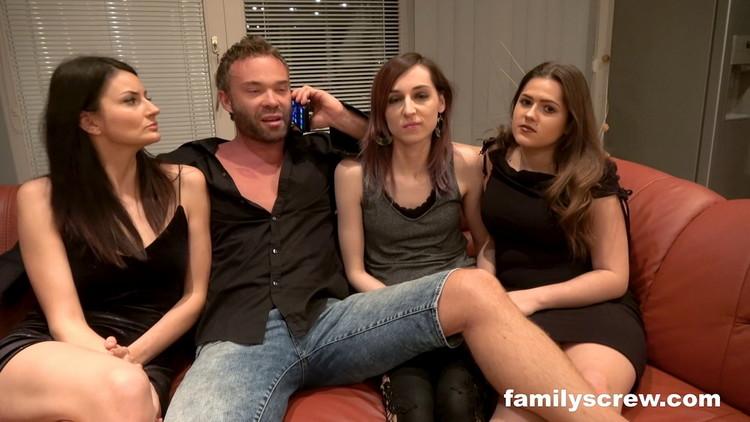 FamilyScrew: Valentina Sierra, Sereyna Gomez, Jana - Family house party part 1 [FullHD 1080p] (2.27 GB)