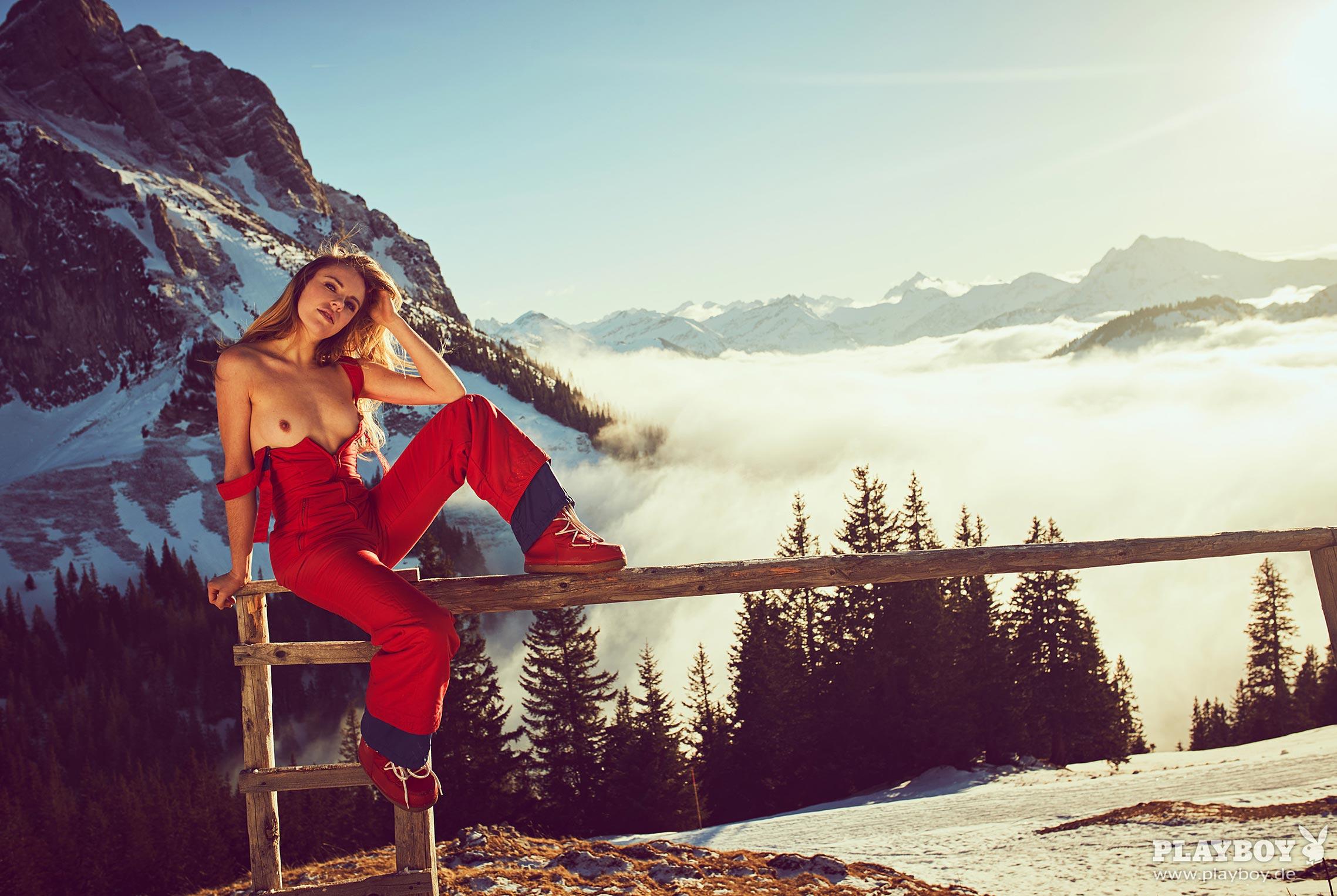лыжница Лиза Циммерман в журнале Playboy Германия, март 2018 / фото 15