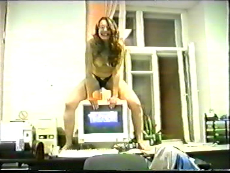 Amateur - Russian amateur video of the 90s. [Russian Girls Reality / SD 576p]